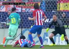 Barcelona je teškom mukom stigla do vrijedne pobjede na Vicente Calderonu protiv Atletico Madrida, Real ima svog suca koji ga gura do titule , Ronaldo postigao rekordni 57 gol iz penala