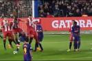 Messi i Suarez vodili Barcelonu do uvjerljive pobjede nad Gironom , Monaco u 87. minuti prokockao sigurnu pobjedu
